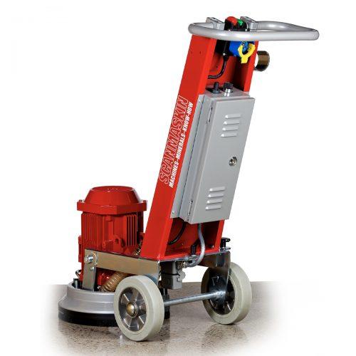 Back of floor grinder