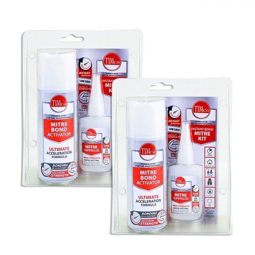 Instant Bond Mitre Kit - 200ml / 50g- Twin Pack